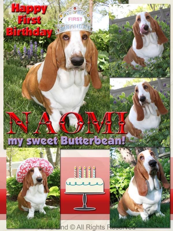 Naomi's first birthday